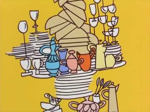 The Alvin Show - Wierd Talling Dinning Table and Intro 1961