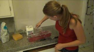 Stephanie's Step By Step Kitchen Remodel - Step 2 Installing Granite Tile