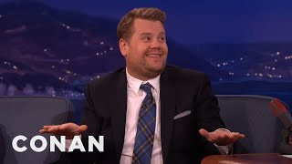 """James Corden On His """"Late Late Show"""" Jitters  - CONAN on TBS"""