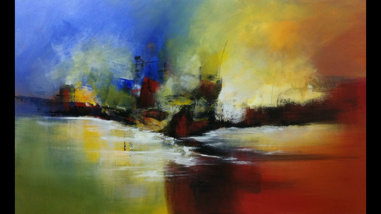 Pintura em tela demonstra o 3 marinha tropical youtube - Pinturas para pintar tela ...
