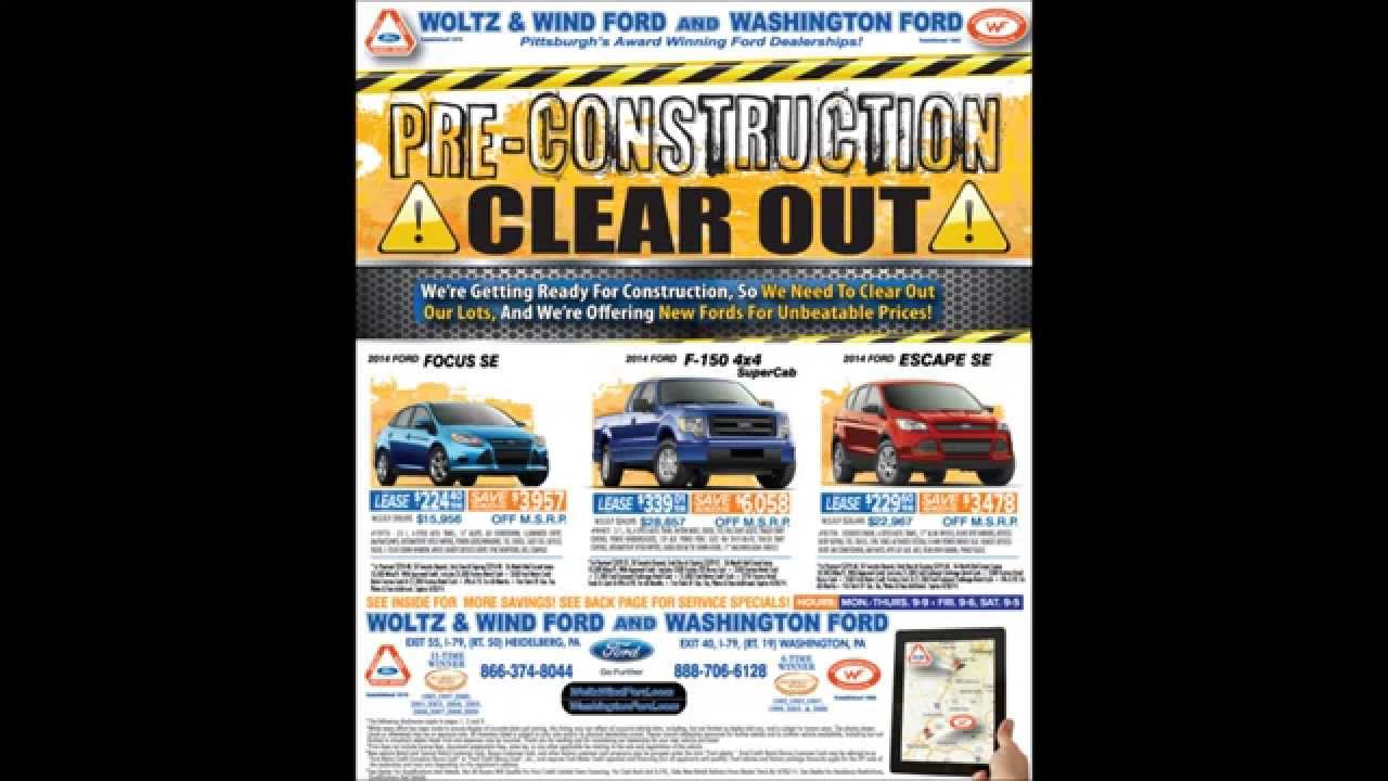 Pre Construction Clear Out Deals At Woltz Wind Ford
