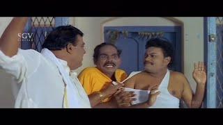 Doddanna trick to call out Sadhu Kokila & Biradar from Home | Kannada Comedy Scenes | Kannada Movies