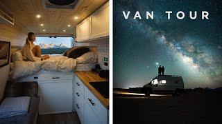 VAN TOUR   Full-time Adventure Filmmaker Builds Out Dream Camper Van
