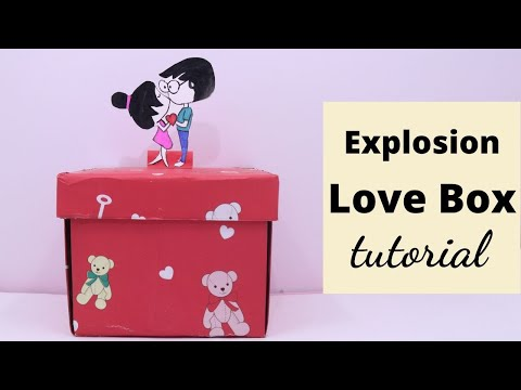 DIY Handmade Explosion Gift Box to surprise Any One by Aloha Crafts