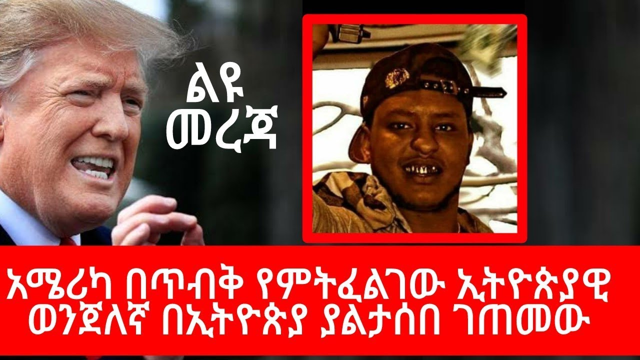 An  Who Flee To The US After Committing A Crime In Addis Is Being Search By US