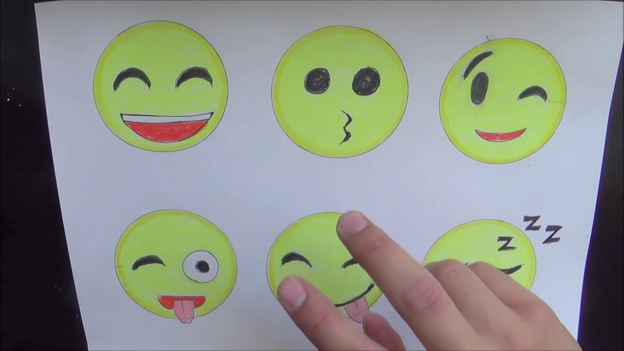 How to Draw Emojis Step by Step (9/23/ 2017) - YouTube