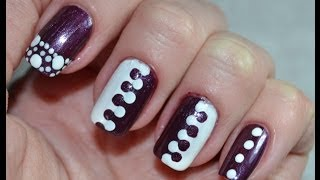 Easy Puzzle Nail Art and Polka Dotts Simple Designs / Легкий Маникюр Дотсом