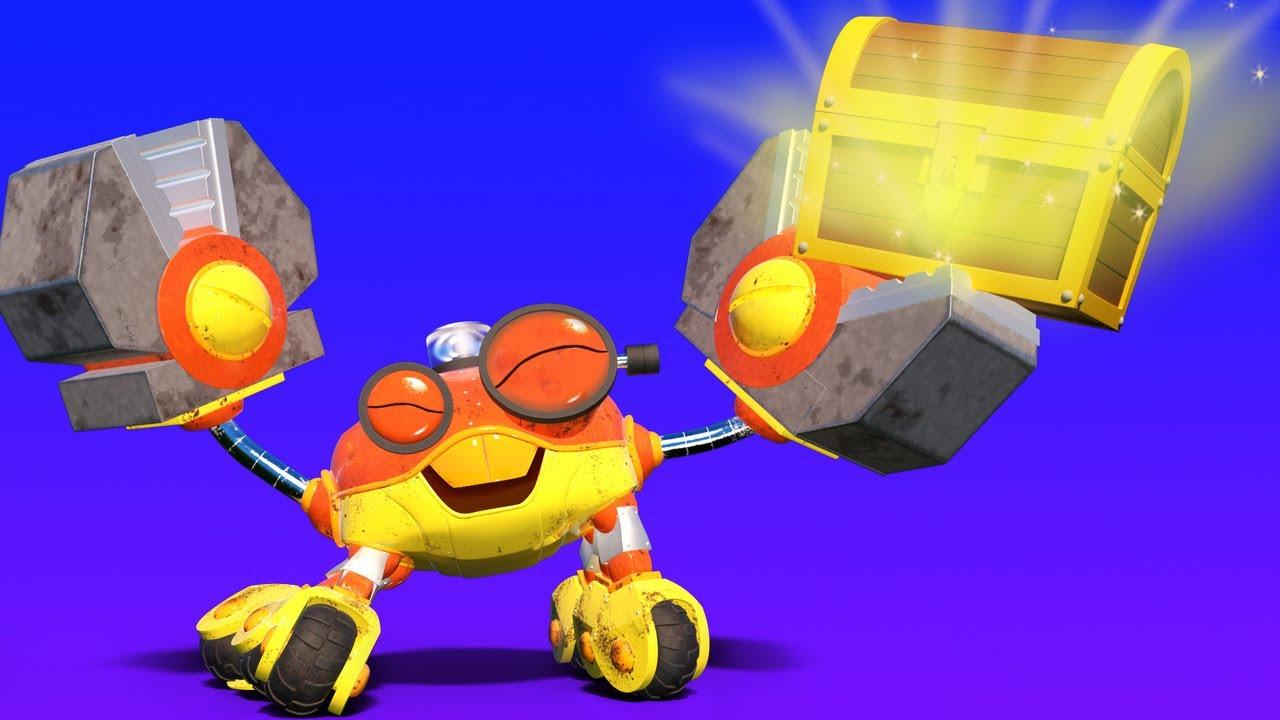 อนิม่าคาร์ส - เจ้ารถลำเลียงจระเข้กำลังเล่นเบสบอล - การ์ตูนสำหรับเด็กพร้อมรถบรรทุกและสัตว์