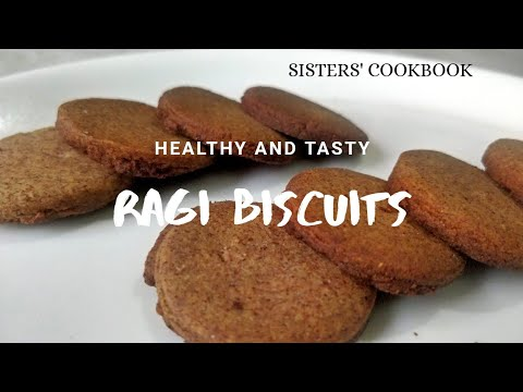 Home Made Ragi Cookies Recipe Without Oven Diabetic Friendly Ragi Biscuits Sisters Cookbook Youtube