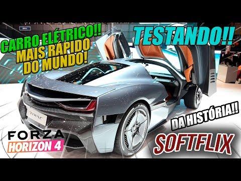 TESTANDO O CARRO ELÉTRICO MAIS RÁPIDO DO MUNDO!! - FORZA HORIZON 4