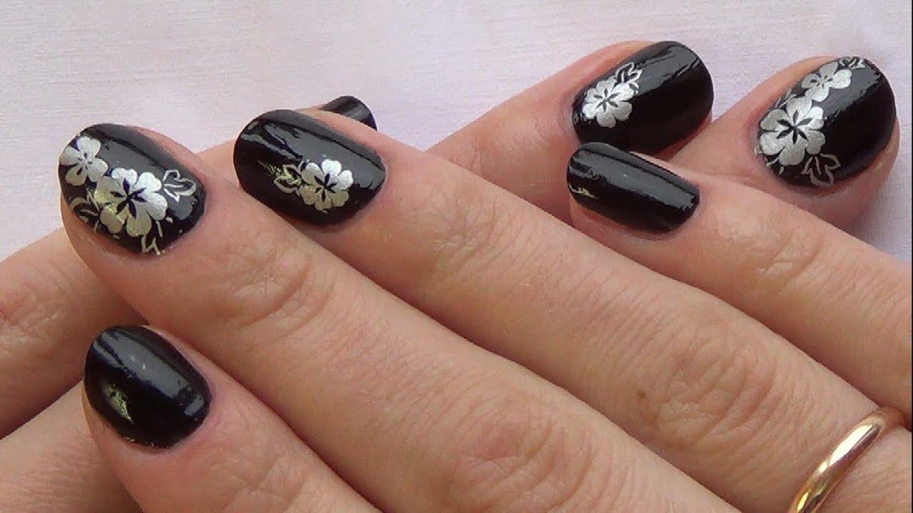 Осенний френч на круглых ногтях фото