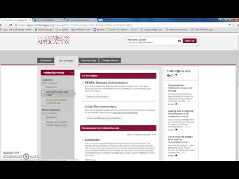 ferpa form common app  Common Application FERPA Waiver Instructions and Naviance ...
