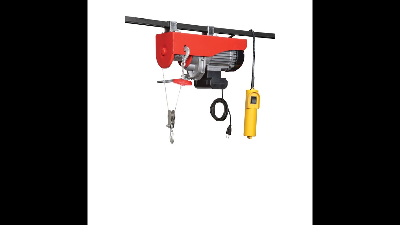 Harbor Freight 880 Lb 110 Volt Winch Youtube