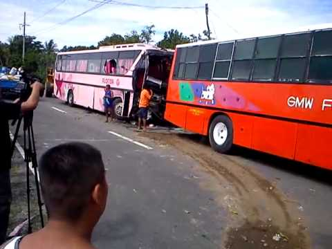 Florida Bus Vs Military Truck Accident In Pasuquin Youtube