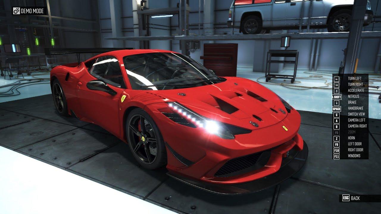The Crew: Ferrari 458 Speciale Performance spec - YouTube