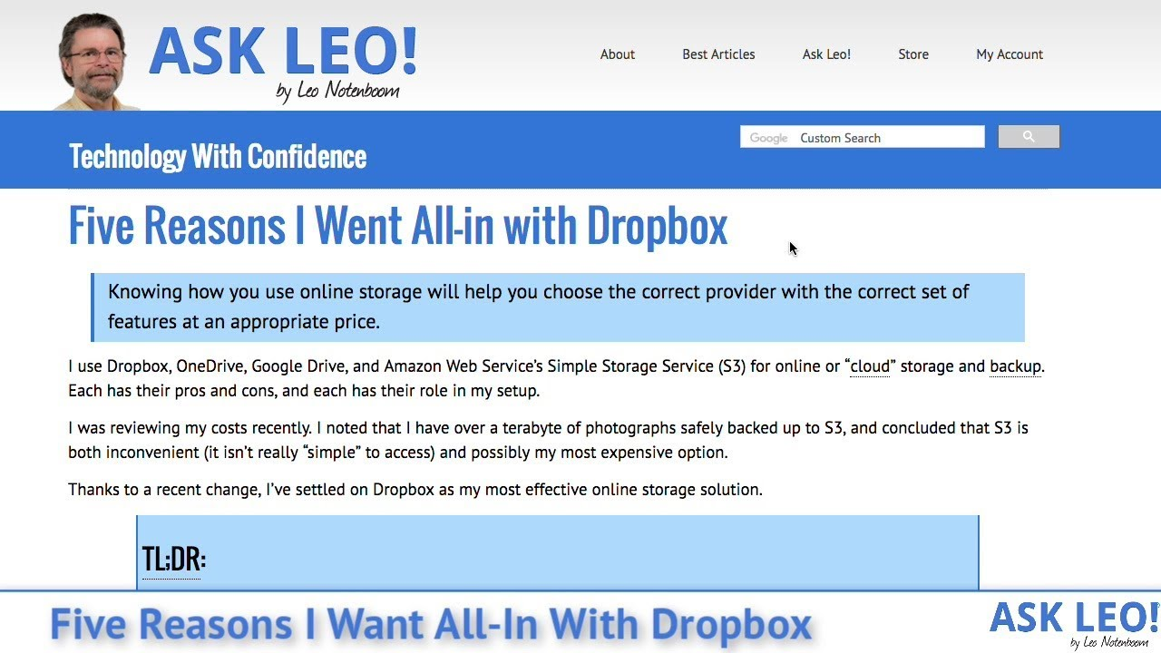 Five Reasons I Went All-in with Dropbox - Ask Leo!