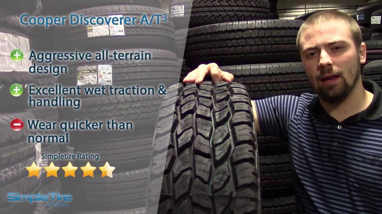 Cooper Discoverer A T3 Tire Review Simpletire Com Youtube