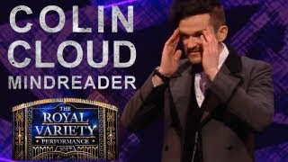 Mentalist Colin Cloud amazes at the Royal Variety Performance 2017