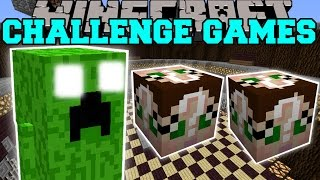 Minecraft:  FAT CREEPER CHALLENGE GAMES - Lucky Block Mod - Modded Mini-Game