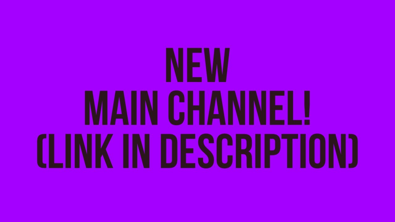 I'm Changing My YouTube Channel..