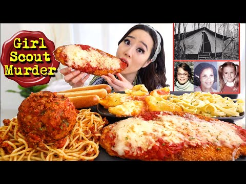 Foot Long CHICKEN PARMIGIANA CHEESY PASTA +  1 POUND MEATBALL Olive Garden MUKBANG 먹방 | Eating Show