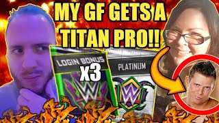 WM34 PLATINUM PACK OPENING LOGIN BONUSES PRO TITAN MIZ CASH IN Noology WWE SuperCard Season 4