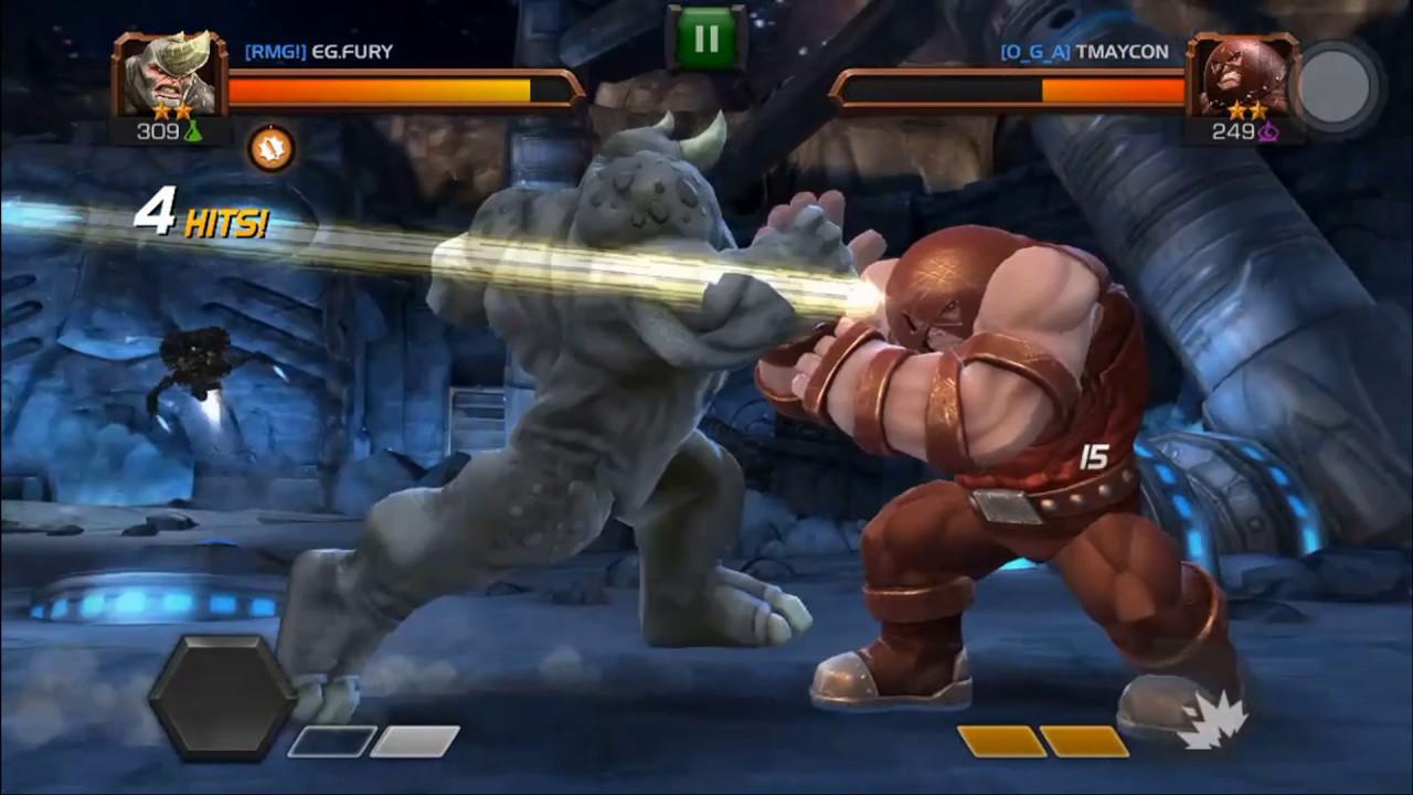 Download Rhino vs Juggernaut - 2 Star vs 2 Star - 309 vs 249 - 3 vs 3 - Marvel Contest of Champions