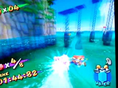 Super Mario Sunshine: Red Coins on the Water with the Pink Blooper