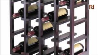 Winsome Kingston Stackable Slot Cube, 16-bottle Wine Cube 92144