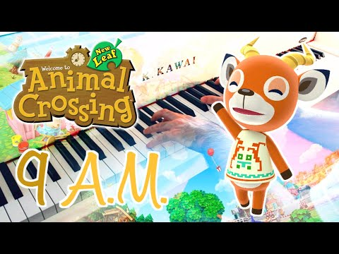 🎵 9AM (Animal Crossing: New Leaf) ~ Piano cover w/ Sheet music!