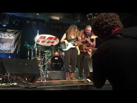 George Porter Jr with Jerry Jemmont and Tal Wilkenfeld at Bass Player Live 2016