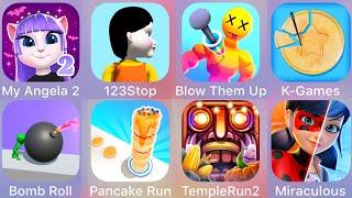 Blow Them Up,My Angela,123 Stop,Pancake Run,Temple Run 2,Miraculous Lady,K Games Challenge,Bomb Roll screenshot 5