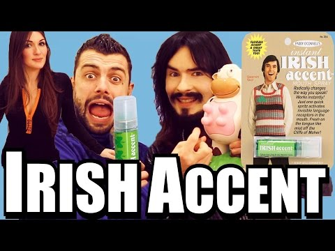 Irish American People Try - 'Instant Irish Accent Mouth Spray'