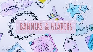Gambar cover PRETTY NOTES FOR SCHOOL ✏ CUTE HEADERS FOR NOTES 📚  TITLE IDEAS