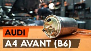 Τοποθέτησης Φιλτρο πετρελαιου βενζίνη και ντίζελ AUDI A4: εγχειρίδια βίντεο