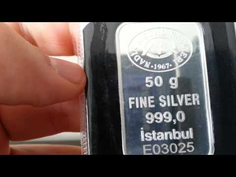 50 gram .999 Silver from Nadir Metal Refinery in Turkey