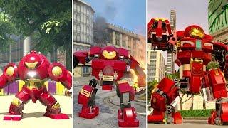 Evolution of Hulkbuster Armors in LEGO Marvel Videogames (2013-2018)
