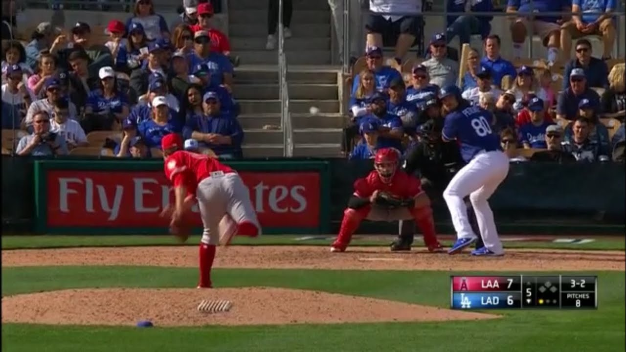 dodgers  angels highlights dodgers spring training  youtube