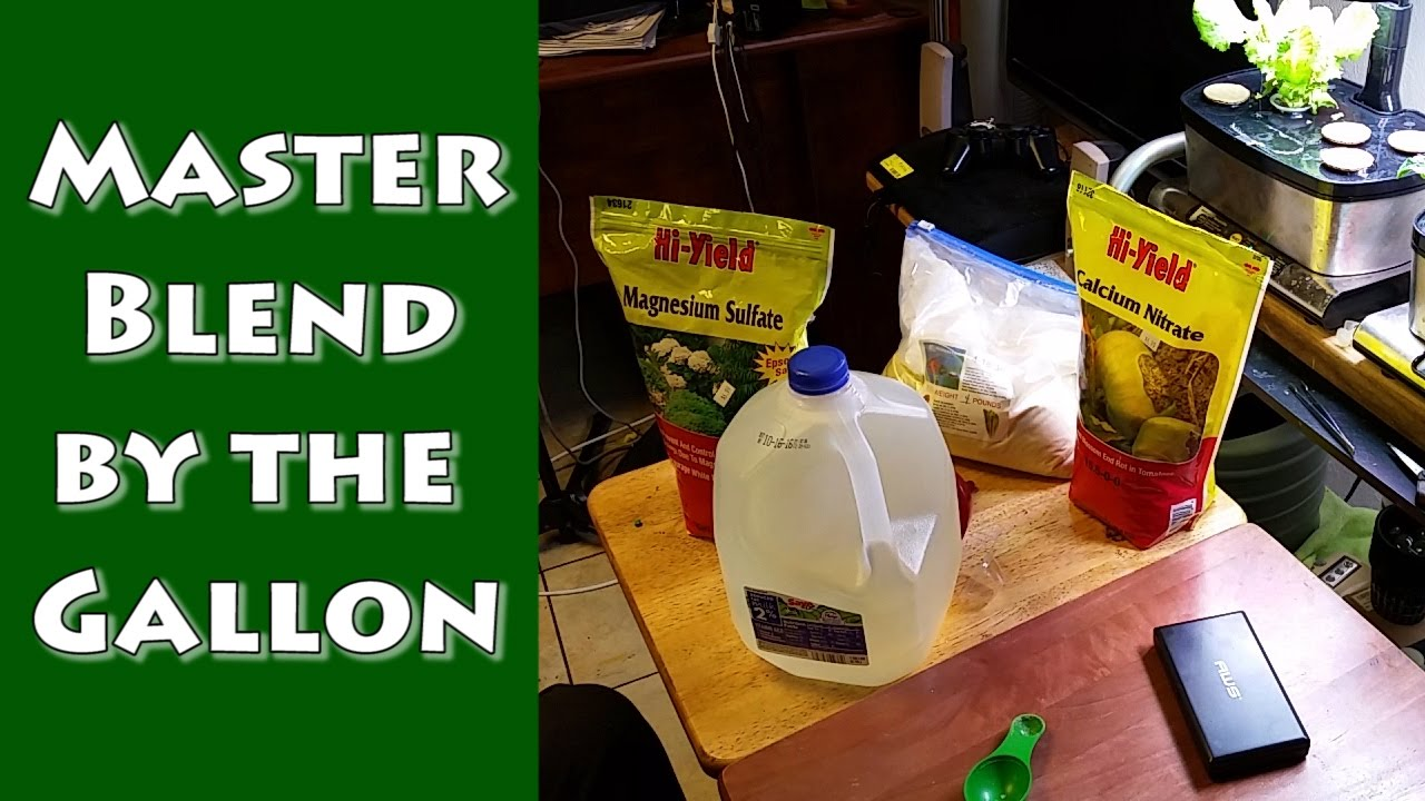 Masterblend By The Gallon Hydroponic Fertilizer