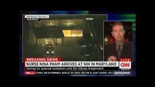 Nina Pham En Route To Nih (october 16, 2014)