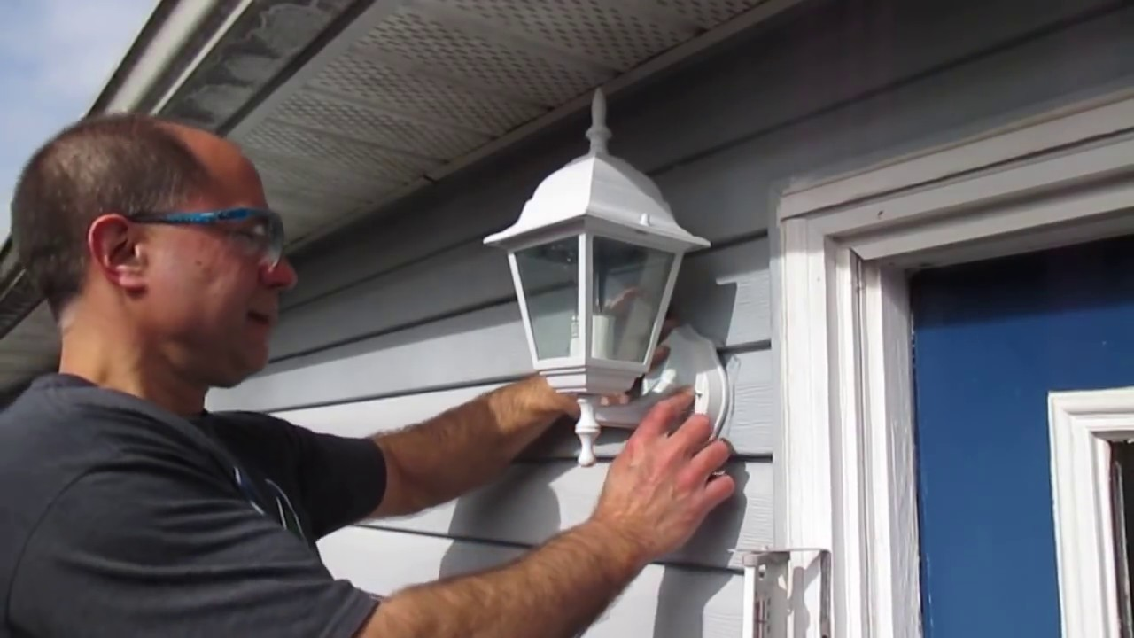 How To Replace An Outside Light Youtube