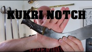 The Kukri knife notch (cho) - purpose identified?