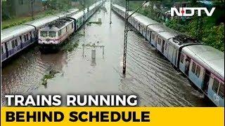 Mumbai Rains - Roads, Rail Tracks  Remain Waterlogged, Normal Life Affected