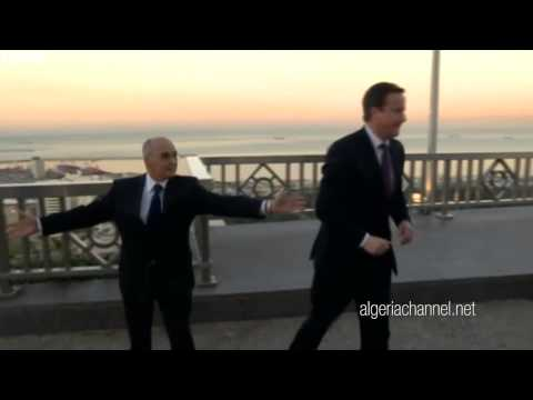 David Cameron and Youcef Yousfi in Algiers Funny
