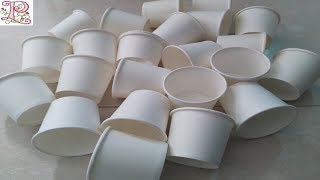 Disposable TEA CUPS Reuse Craft    Best out of Waste PAPER Tea Glass    poppyalley