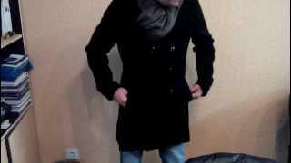 Стильное мужское пальто.Бесплатная доставка с Китая.