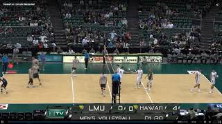 LMU vs Hawaii Game 1 of 3 Men's Volleyball - 20190217