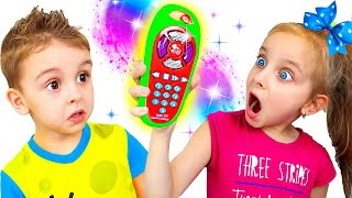 Pretend play with magic remote control toy with Fursiki show
