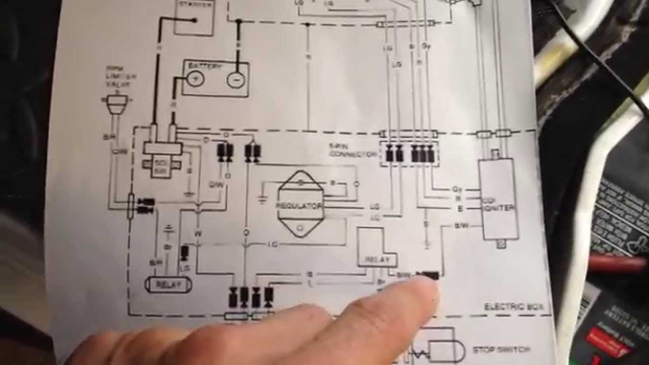 1990 kawasaki 400 440 550 650 stand up jet ski electrical diagram youtube [ 1280 x 720 Pixel ]