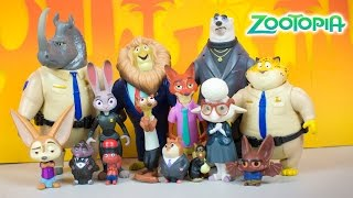 Disney Zootopia Toys World of Zootopia Judy Hopps Nick Wilde Lionheart's Treasure Kinder Playtime